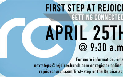 First Step – April 25th